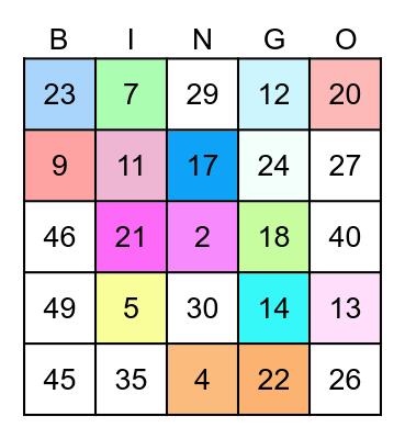 國一11線上班會 Bingo Card