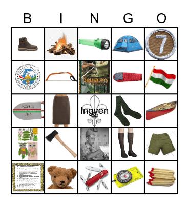 Cserkész Bingó Bingo Card