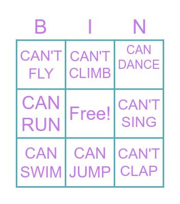 CAN BINGO Card