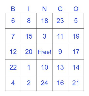 食物 Bingo Card