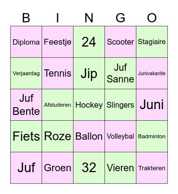 Juffen bingo Card