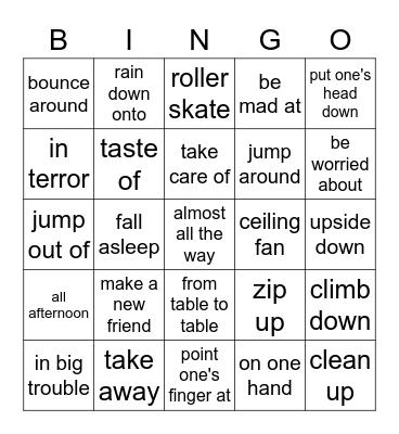 Lesson.15 Bingo Card