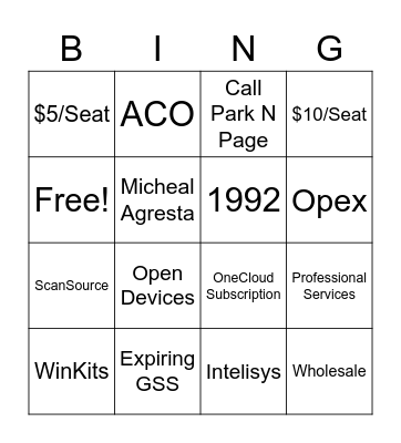 Bingo - Hiscall Bingo Card