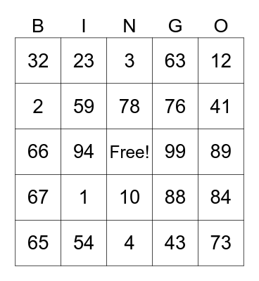#iBelong Bingo Card