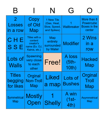 Map Maker Bingo (Showdown) Bingo Card