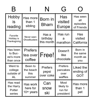 ERCO Bingo Card