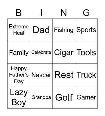JUNE CELEBRATIONS Bingo Card