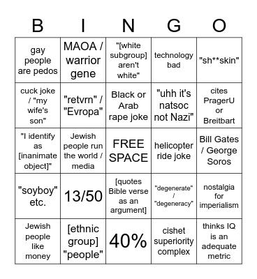 /pol/tard bingo Card