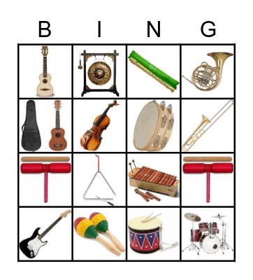 eletiva música Bingo Card