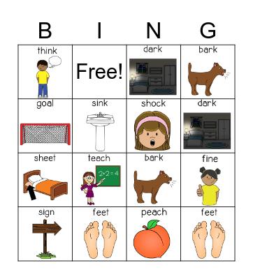 Initial Place Bingo Card