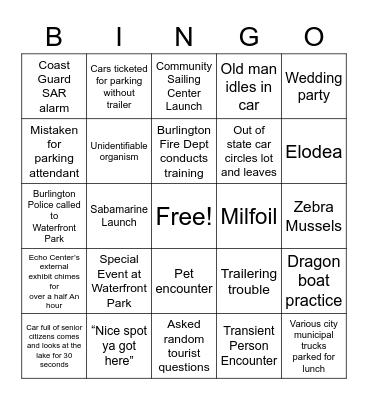 USCG Launch Site Bingo Card