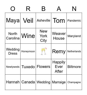 Orban Bingo Card