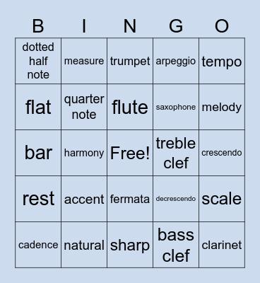 Band Bingo :) Bingo Card