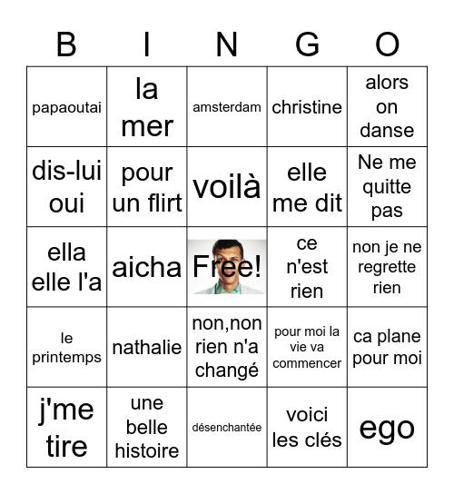 Le lotto des chansons Bingo Card
