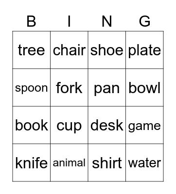 Places to Go Bingo Card