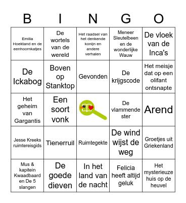 Boekenscout Bingo Card