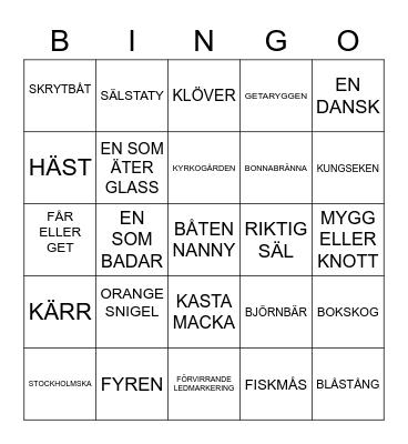 HALLANDS VÄDERÖ-BINGO Card