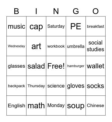 G5-2 review Bingo Card