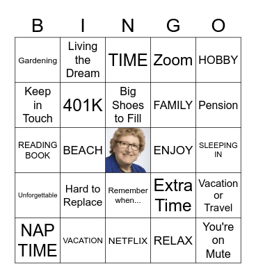 Happy Retirement! Bingo Card