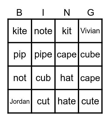 SS4 Open Lesson Bingo Card