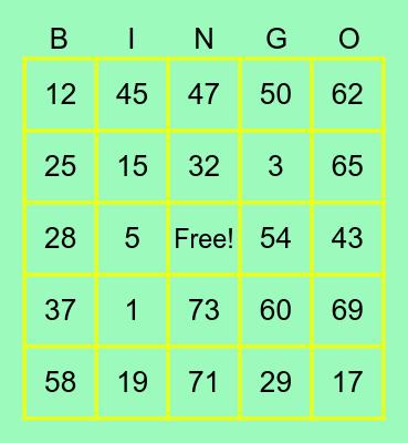 Mark Oliver Rabena Bingo Card
