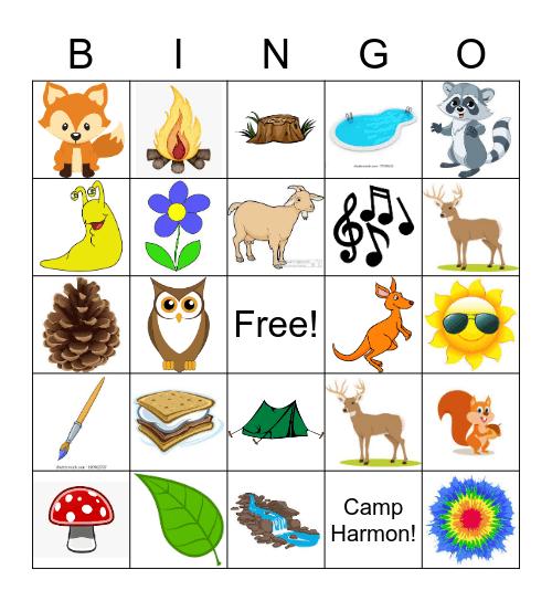 Camp Bingo Card