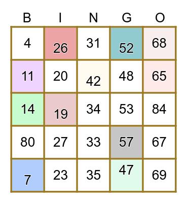 🥂BENDIKS BOBLEBINGO🍾 Bingo Card