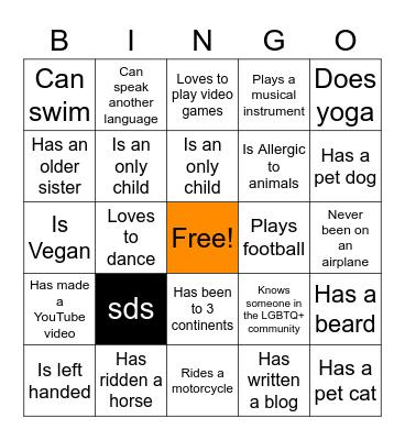 Warren Pride Alliance Bingo Card