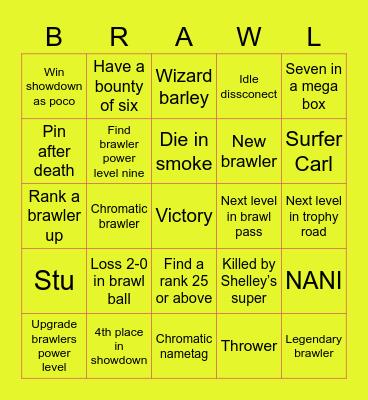 Brawl stars Bingo Card