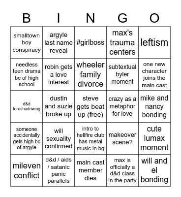 st4 bingo Card