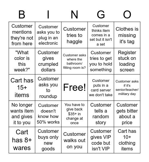 Goodluck Goodwill Bingo Card