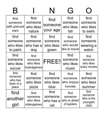 BINGO!!! Bingo Card