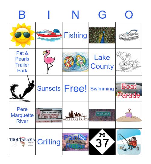 Wolf Lake, MI Bingo Card