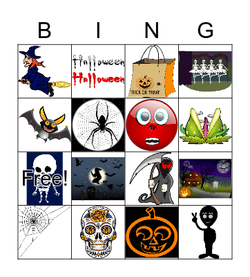 HAPPY HALLOWEEN! Bingo Card
