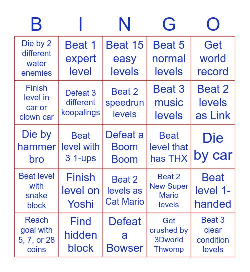 Mario Maker 2 Bingo Card