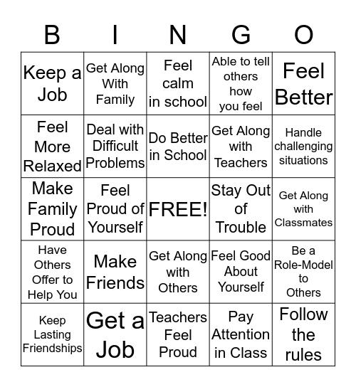 The Big Picture Bingo Card