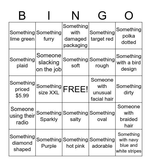 Target Bingo Card