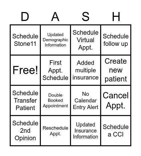 Get Ready. Get Set. Bingo Card