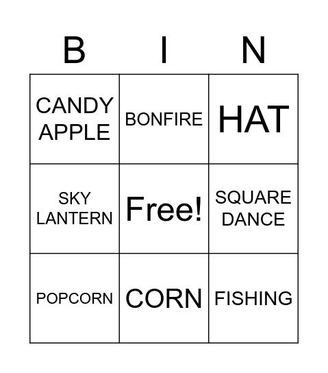 JUNE FESTIVALS Bingo Card