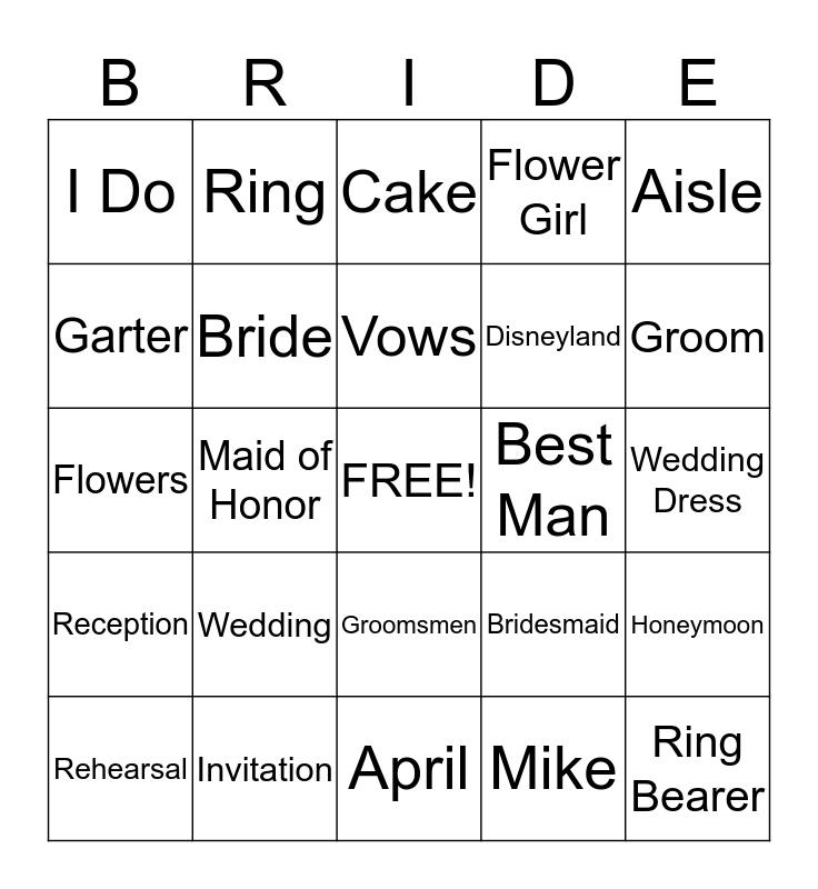Brown - Rice Bingo Card