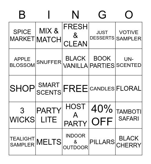 PARTY LITE Bingo Card