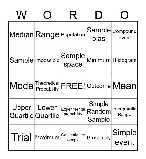 WORDO! Bingo Card