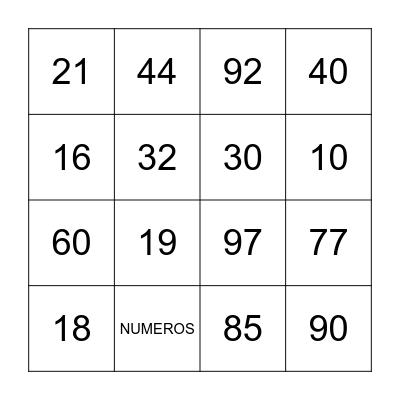 Emef Perimetral bingo do dia da familia Bingo Card