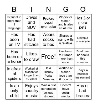 Community Day Bingo Card