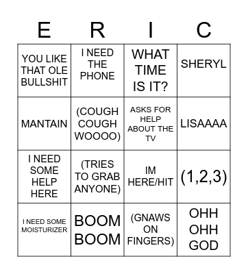 ERIC BINGO Card