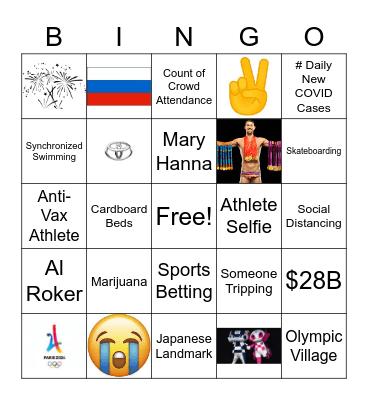 Olympic Opening Ceremony Bingo Card