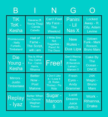 FH Musical Bingo Card