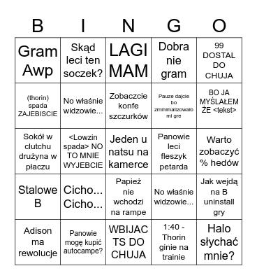 Szczuryłąb Bingo Card