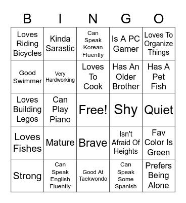 Unknown OC Bingo Card