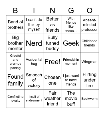 What Was That? Tropes Bingo Card